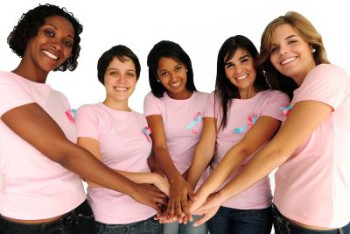 Women are taking hands in the fight against cancer