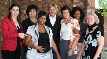 Cara Noble, Adri Basson, Monza Modise, Jannie Moolman, Brunie Botha, Kgomotso Bawa, Eileen Snyders