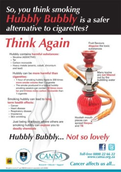Hubbly Bubbly Not So Lovely Poster by UCT medical students