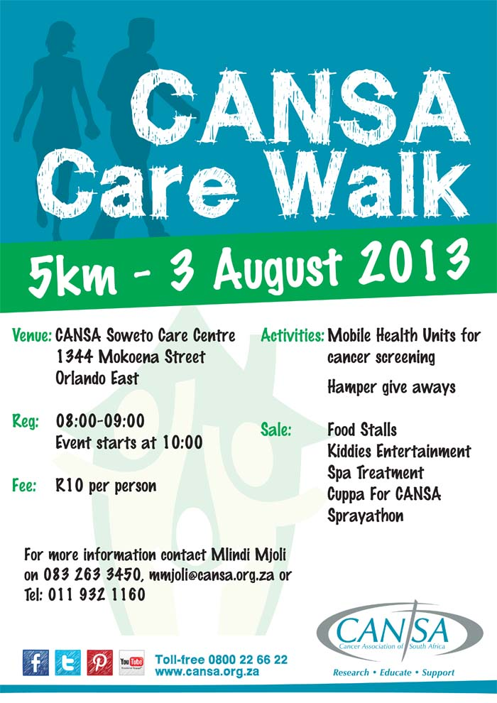 » CANSA Care Walk Poster.cdr | CANSA – The Cancer ...