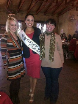 Andy Goyle, Leona Erasmus, Mrs South Africa Finalist 2013 and host of the Cuppa for CANSA and Elsa Fouche, CANSA Gauteng North