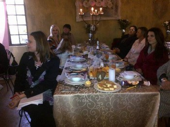 Guests enjoying Leona's Cuppa for CANSA at Die Akker!
