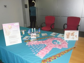 Display table at ARUP Wellness Day
