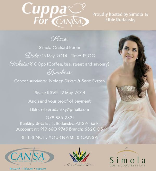 Elbie Rudansky Cuppa For Cansa
