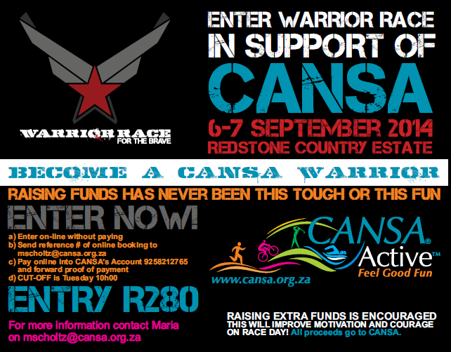 Become a Warrior for CANSA
