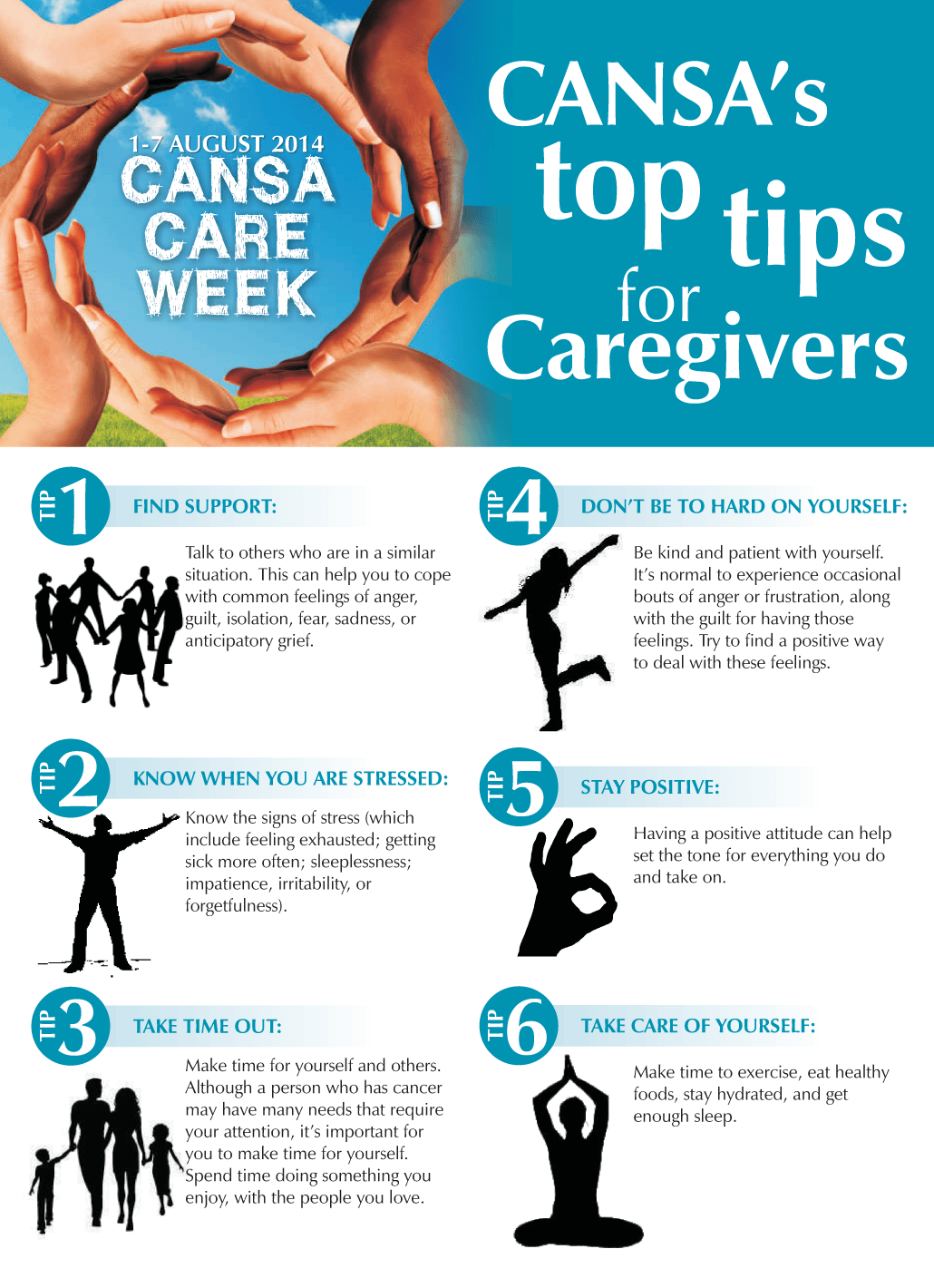 top tips to avoid caregiver burnout cansa the cancer top tips to avoid caregiver burnout cansa the cancer association of south africa