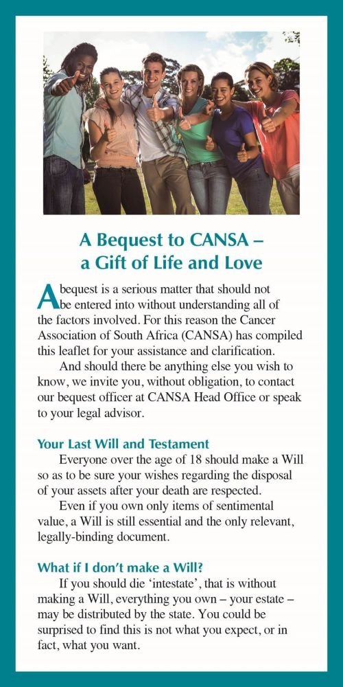 CANSA Bequest 1 post