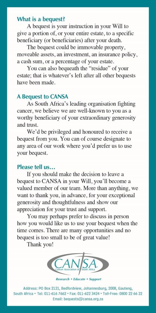 CANSA Bequest 2 post