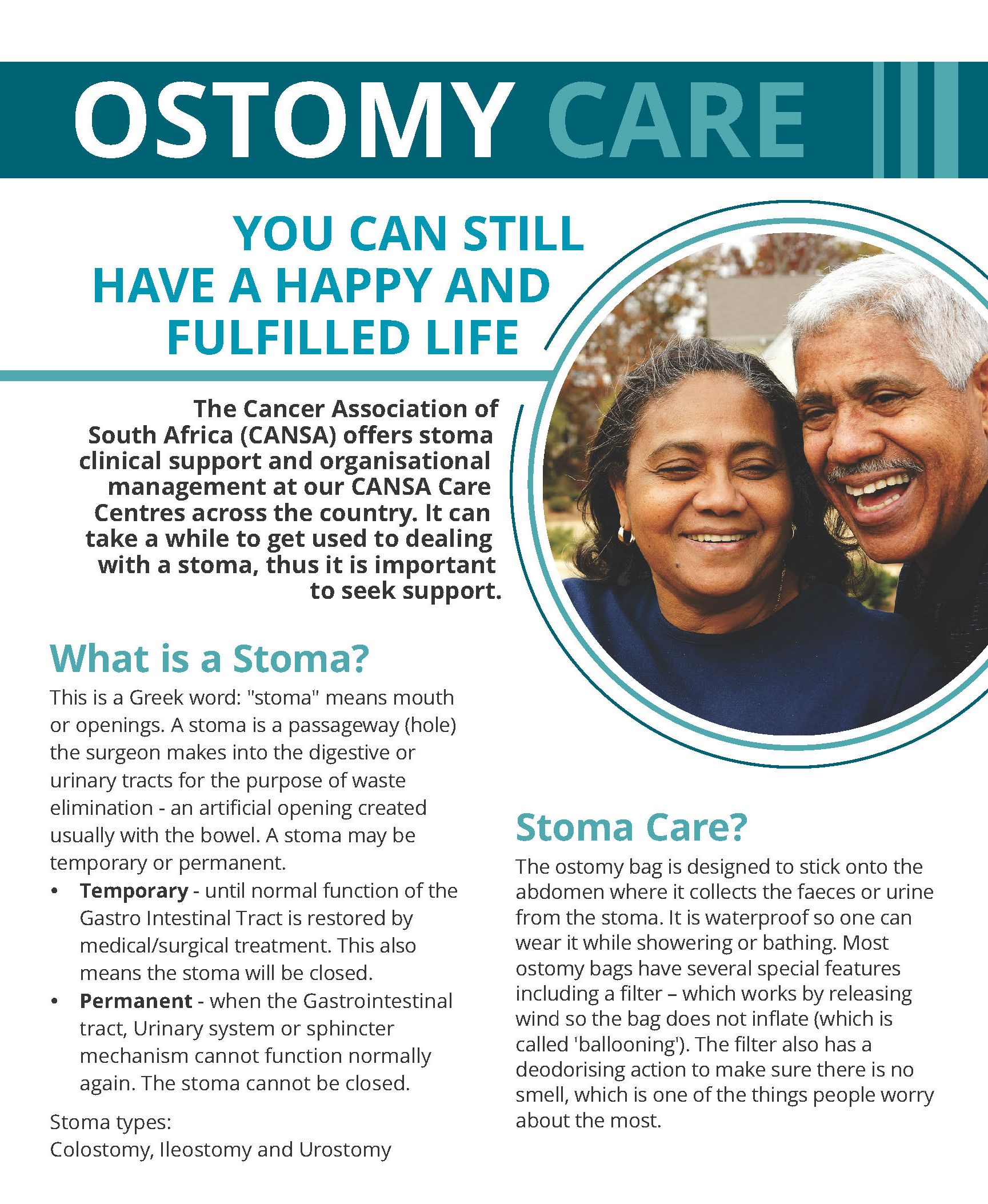 Stoma Care Amp Support Cansa The Cancer Association Of