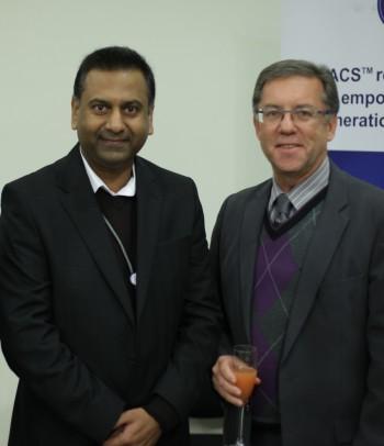 Prof Eugene Cloete, Stellenbosch University and Prof Vikash Sewram, African Cancer Institute