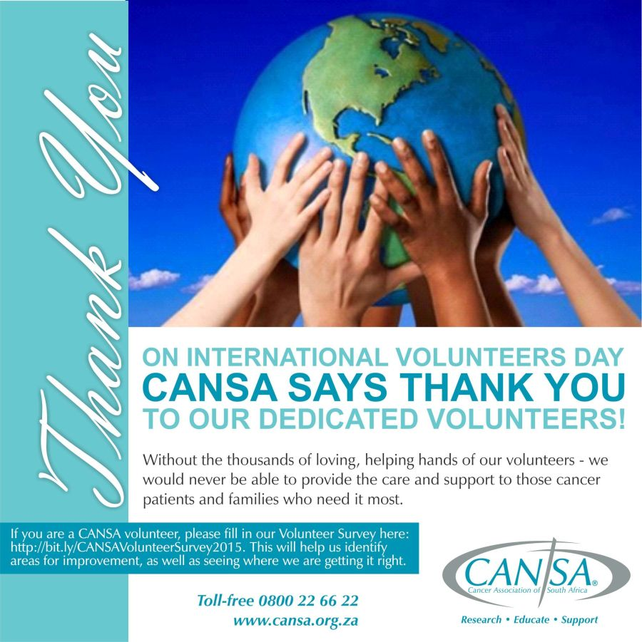 CANSA Volunteers Day 2015 post