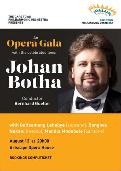 Johan Botha with Cape Town Philharmonic Orchestra 13 Aug Artscape