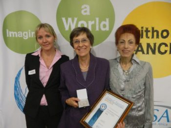 Fltr: Dr Melissa Wallace, CANSA Head of Research, Prof Lizette Janse van Rensburg, Elize Joubert, CEO CANSA