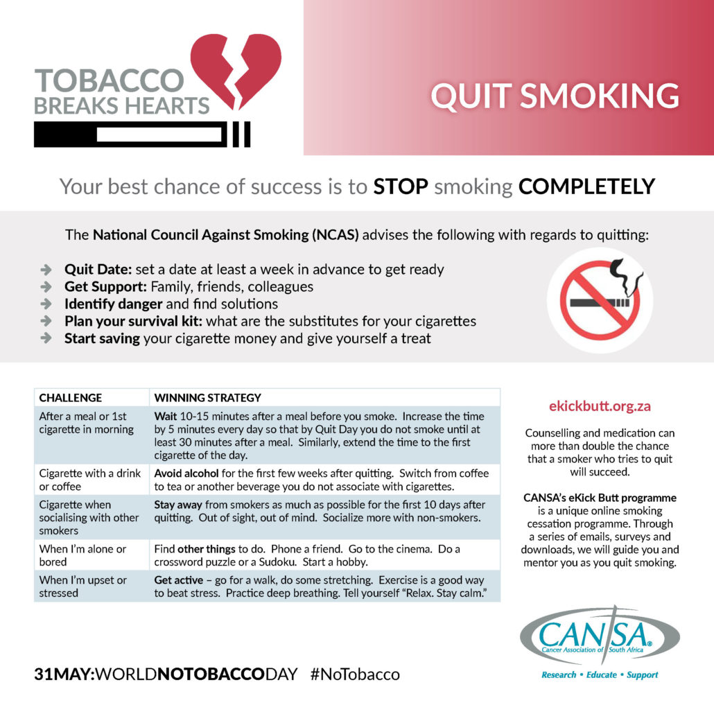 How to QUIT Smoking | CANSA - The Cancer Association of