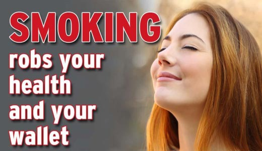 Smoking Robs Your Health & Wallet