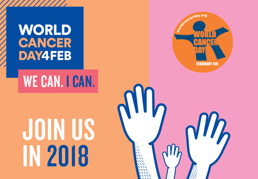 Join us on World cancer day - 4 Feb