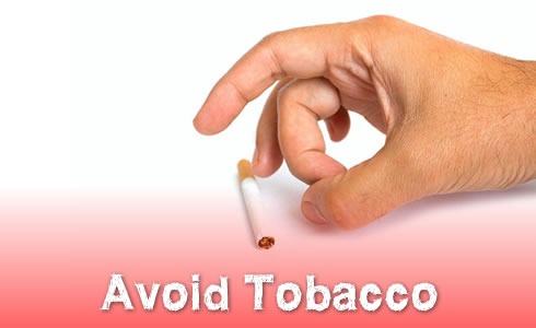Avoid Tobacco