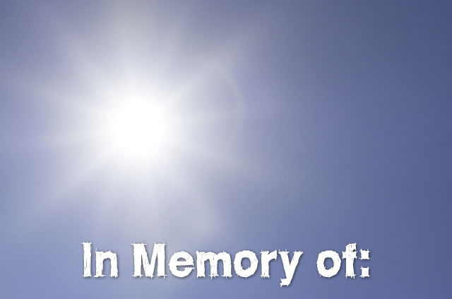 Give in memory of someone