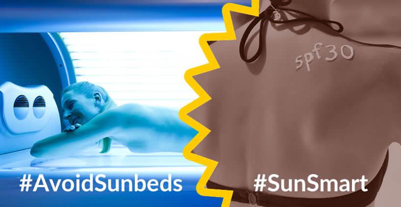 Be SunSmart, Avoid Sunbeds