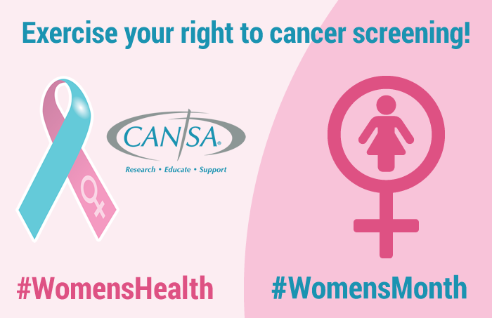 Exercise your right to cancer screening! #WomensHealth